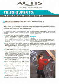 TRISO-SUPER 10+ INSTALLATION GUIDELINES