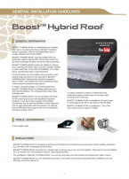 BOOST'R HYBRID ROOF INSTALLATION GUIDELINES